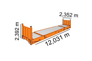 FIXED FLAT RACK 40´[ 40´x 8´x 8,6´ ]