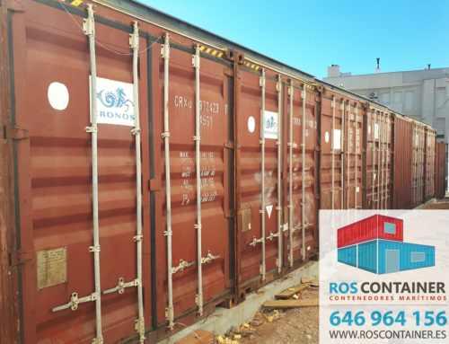 8 Contenedores marítimos 40 HC suministrados en Catral, Alicante