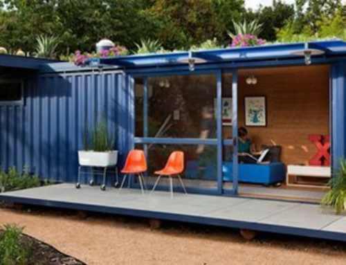 Mini casas  construidas con contenedores marítimos