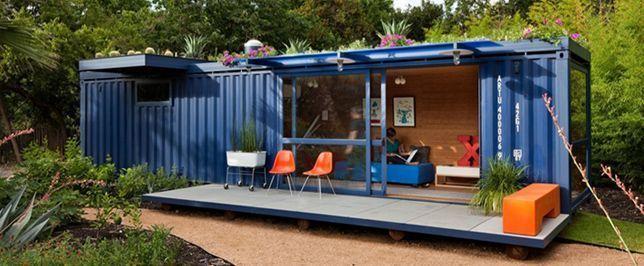 Mini casas construidas con contenedores mar timos - Como hacer una casa con un contenedor maritimo ...