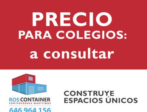 Precio de construcción de colegios o aulas con contenedores