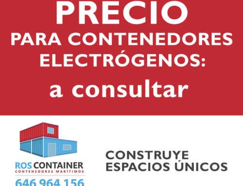 Precio de contenedores para alojar grupos electrógenos