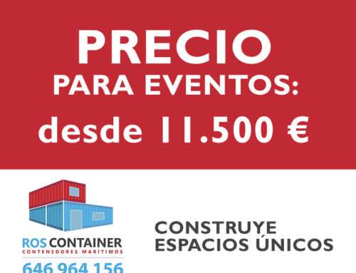Precio de contenedores transformados para eventos o publicitarios