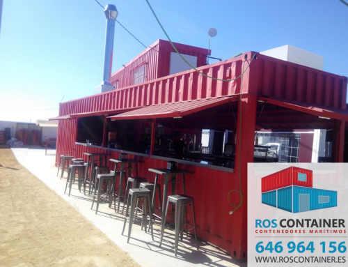 Promoción especial de 2 contenedores de 12 metros HC ya transformados como chiringuito + cocina y baños