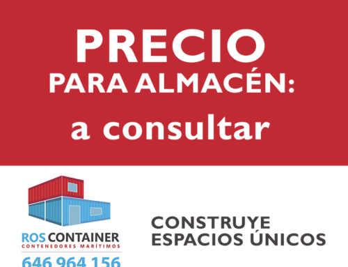 Precio de almacén, trastero o guardamuebles con contenedores marítimos
