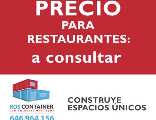 Precio de restaurante con contenedores marítimos