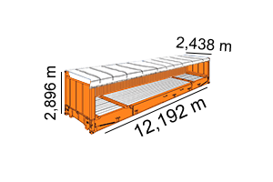 HIGH CUBE OPEN SIDE REEFER 40´[ 40´x 8´x 9,6´ ]