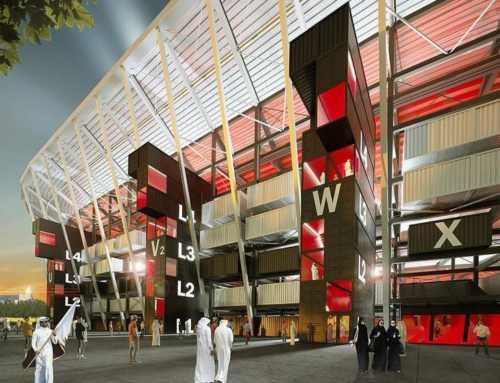 El primer estadio construido con contenedores marítimos estará ubicado en Qatar