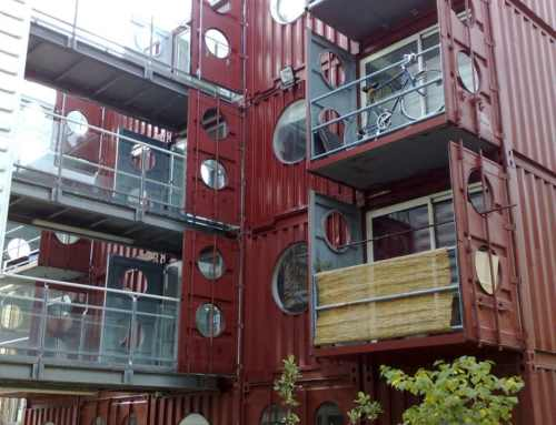 Apartamentos construidos con contenedores marítimos