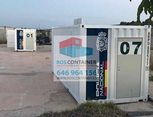 Proceso de transformación industrial de 3 contenedores para uso como oficina